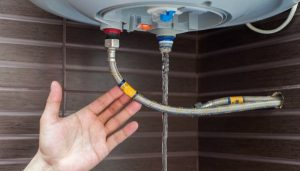 drain storage tank beforehand to prevent risk of it freezing